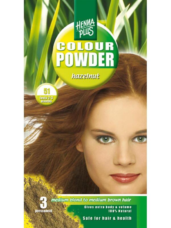 HennaPlus prášková prírodná farba na vlasy Oriešková 5b3834255c5