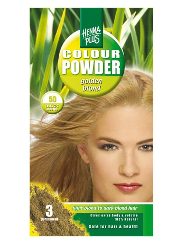 HennaPlus prášková farba na vlasy ZLATÝ BLOND 50 3adf1105bf6
