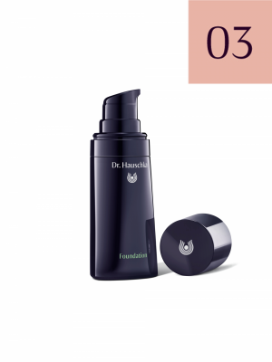 Dr.Hauschka Foundation 03 - gaštan, 30 ml