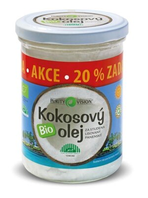 Kokosový olej BIO Purity Vision, 300 ml